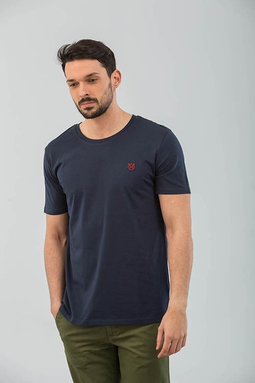 CAMISETA NAVY LOGO BORDADO