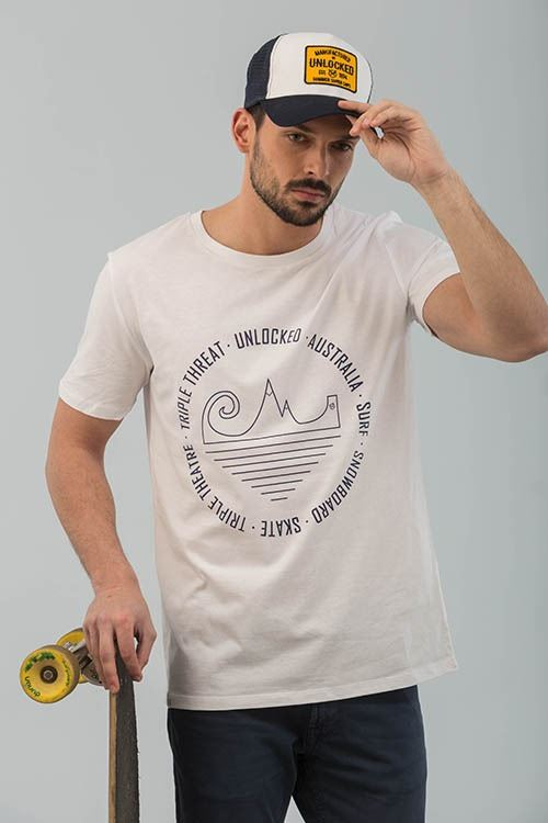 CAMISETA TRIPLE THEATRE BLANCO